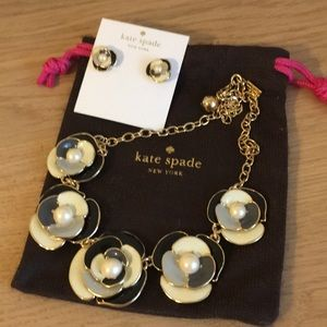 Kate spade matching earrings and necklace